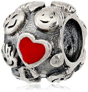 Pandora Happy Family Ties With Red Enamel Heart Charm