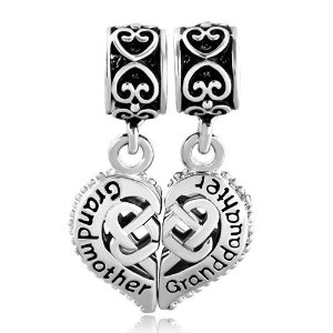 Pandora Heart Love Grandmother Daughter Triquetra Dangle Charm