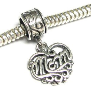 Pandora Heart Love Mom Charm