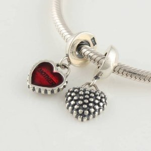Pandora Heart Mother And Daughter Dangle Charm