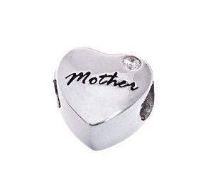 Pandora Heart Mother Crystal Charm