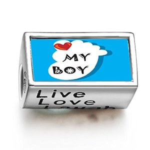 Pandora Heart My Baby Boy Live Love Laugh Charm