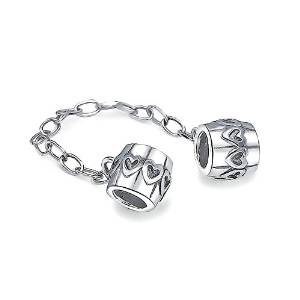 Pandora Hearts Locking Sterling Silver Charm