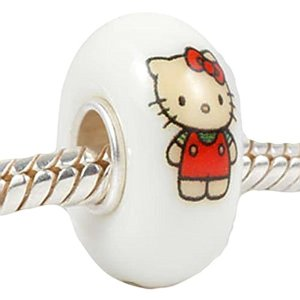 Pandora Hello Kitty White Glass Charm