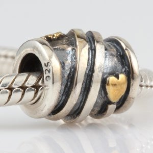 Pandora Helping Hands Open Hearts Gold Plated Charm