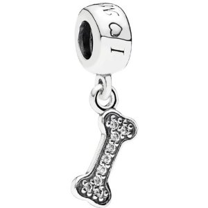 Pandora I Love My Dog Bone CZ Charm