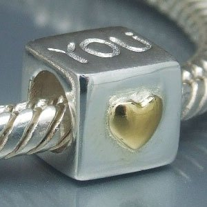 Pandora I Love You 14K Gold Plated Charm