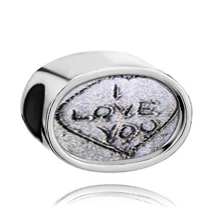 Pandora I Love You Beach Crystal Oval Charm