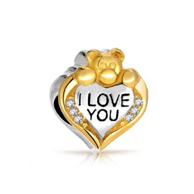 Pandora I Love You Best Friend Sterling Silver Charm image
