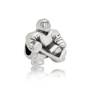 Pandora Ice Hockey Goalie Charm