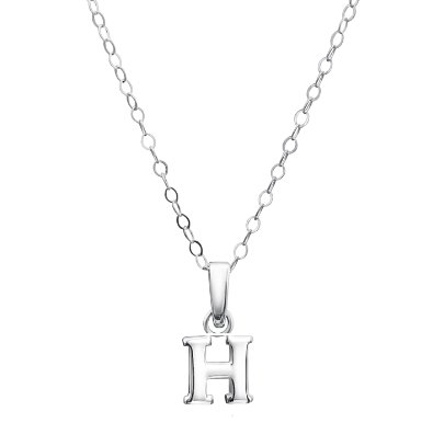 Pandora Initial H Pendant Sterling Silver Charm image