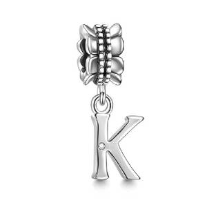 Pandora Initial Letter K Stamped Charm