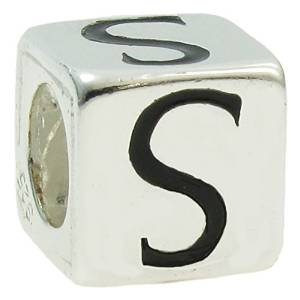 Pandora Initial Letter S On Dice Sterling Silver Charm image
