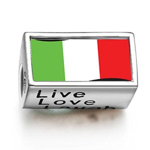 Pandora Italy Flag Words Live Love Laugh Charm