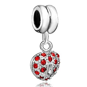 Pandora January Birthstone Crystal Heart Love Dangle Charm