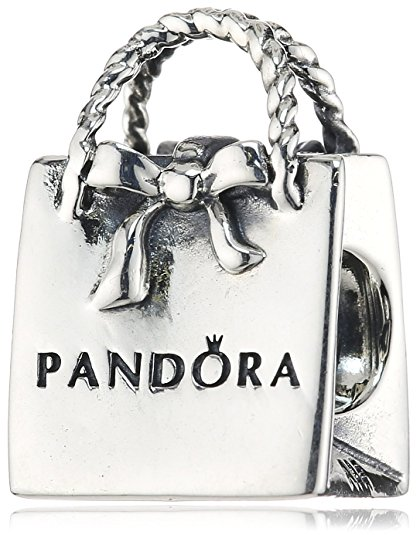 Pandora Ladies Handbag With Black White Golden Swarovski Crystals Charm