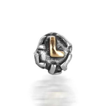 Pandora Letter L Alphabet Screw Core Charm