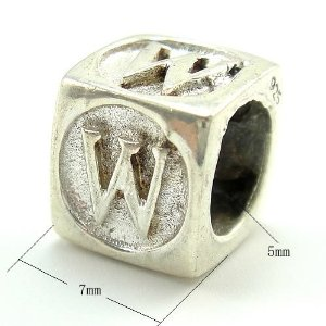 Pandora Letter W Dice Cube Charm smaller image