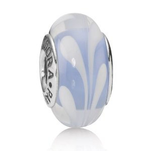 Pandora Light Blue And White Swirl Charm