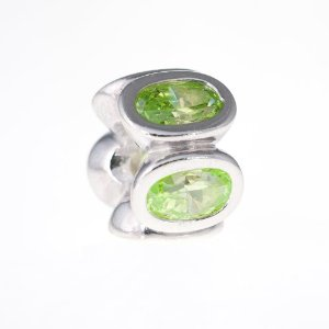 Pandora Light Green CZ Silver Charm