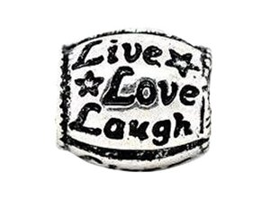 Pandora Live Love Laugh Rounded Charm
