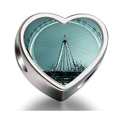 Pandora London Eye A Giant Ferris Wheel Heart Photo Charm