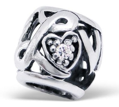 Pandora Love CZ Crystal Double Sided Charm