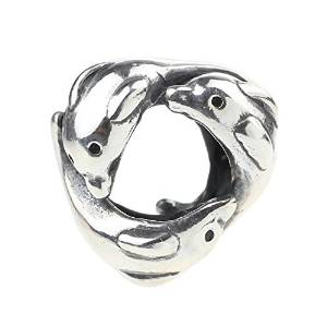 Pandora Love Dolphin Kissing Charm