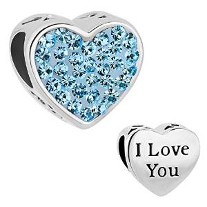 Pandora Love Heart Clip Blue Crystal Heart Charm