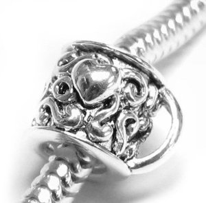 Pandora Love Heart Coffee Cup Charm