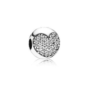 Pandora Love Of My Life Clear CZ Charm