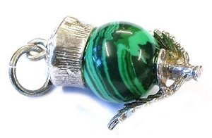 pandora malachite scottish thistle charm best selling