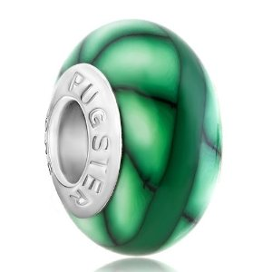 Pandora May Green Murano Glass Charm