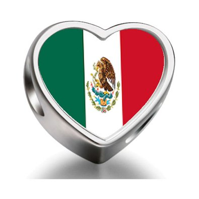 Pandora Mexico Flag Photo Charm
