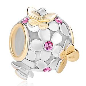 Pandora Mother Day Pink Crystal Butterfly Charm image