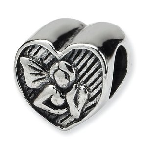 Pandora Mountain Angel Heart Charm
