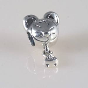 Pandora Mouse With Cheese Dangle Charm