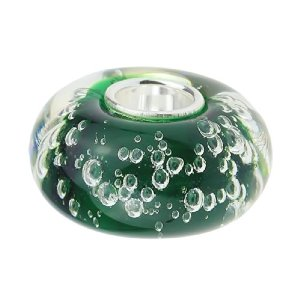 Pandora Murano Glass Green Bubbles Charm
