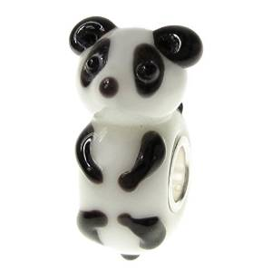 Pandora Murano Glass White Black Panda Charm