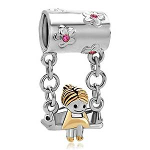 Pandora My Little Girl Dangle Charm image