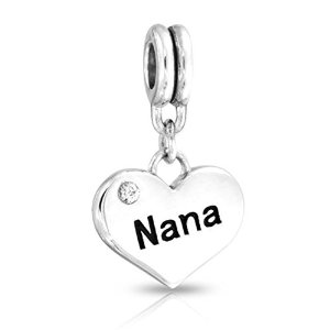 Pandora Nana Heart With Clear Crystal Charm