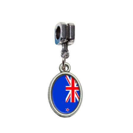 Pandora New Zealand Flag August Birthstone Photo Flower Charm
