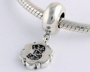 Pandora Number 3 Dangle Charm