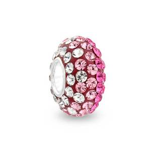 Pandora October Birthstone Magenta Paved Crystal Charm