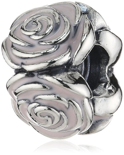 Pandora October Birthstone Rose Pink Crystal Swirl Charm