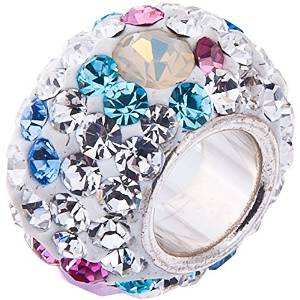 Pandora Opal With Blue And Pink Crystals Charm