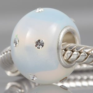 Pandora Opalescent Crystals Glass Silver Core Charm