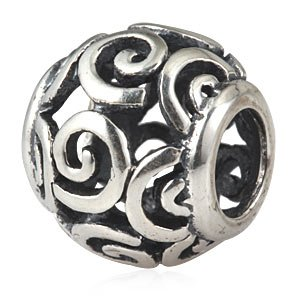Pandora Open Swirls Barrel Charm