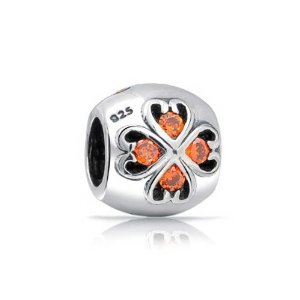 Pandora Orange CZ FlowerCharm