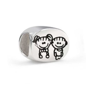 Pandora Oval Sister Brother Charm